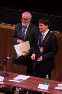 Nový starosta Chebu - Ing. Petr Navrátil (vpravo)