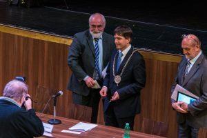 Petr Navrátil těsně po zvolení starostou Chebu | 12. listopadu 2014, KC Svoboda