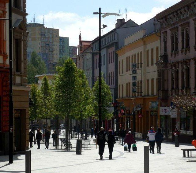 Ulice Svobody cheb jaro
